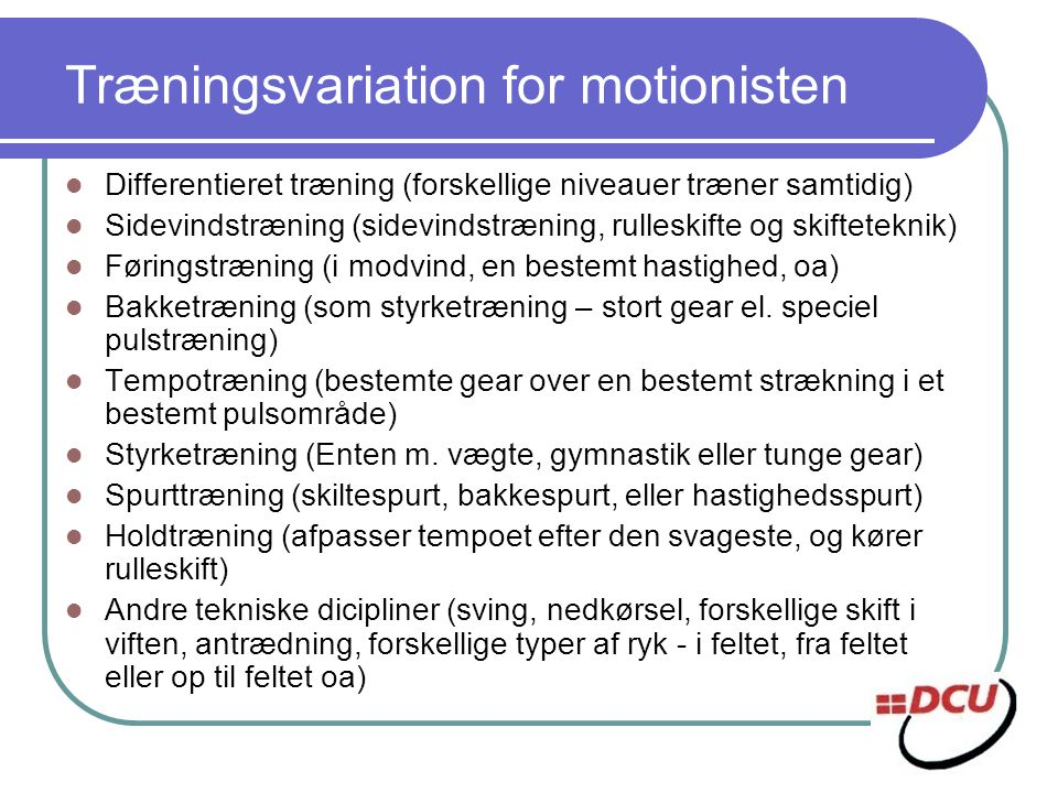 Træningsvariation for motionisten