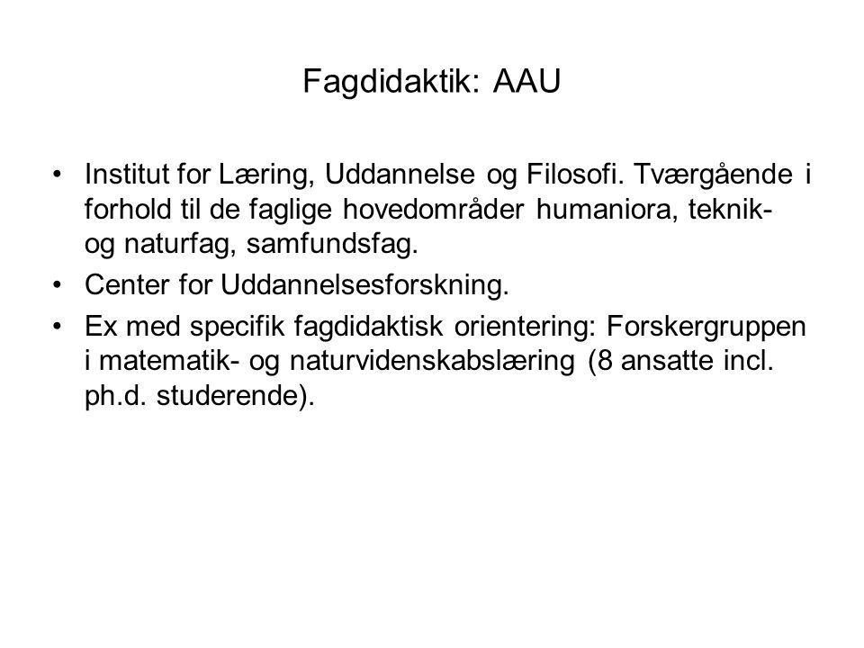 Fagdidaktik: AAU