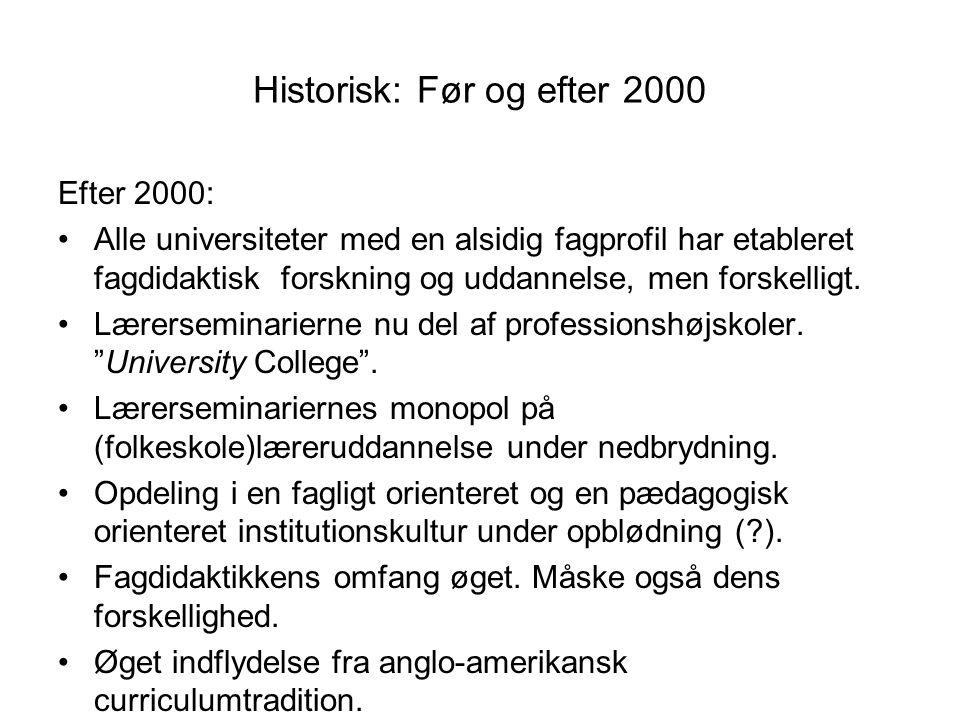 Historisk: Før og efter 2000