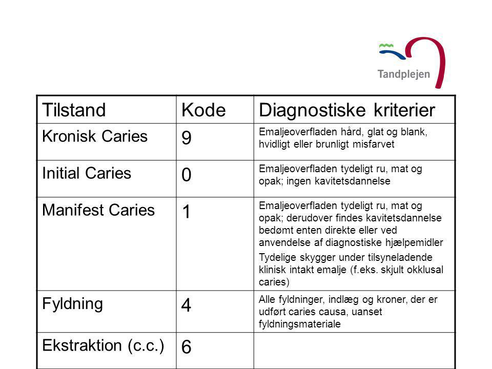 Diagnostiske kriterier 9