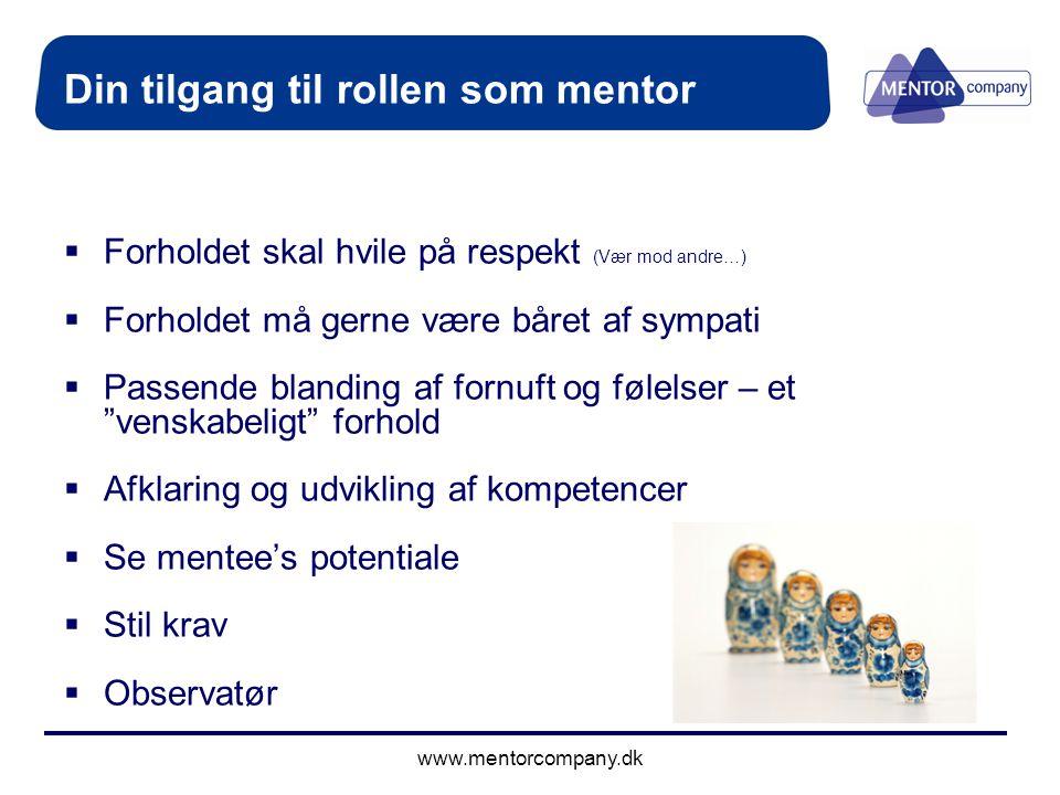 Din tilgang til rollen som mentor
