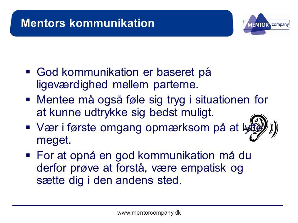Mentors kommunikation