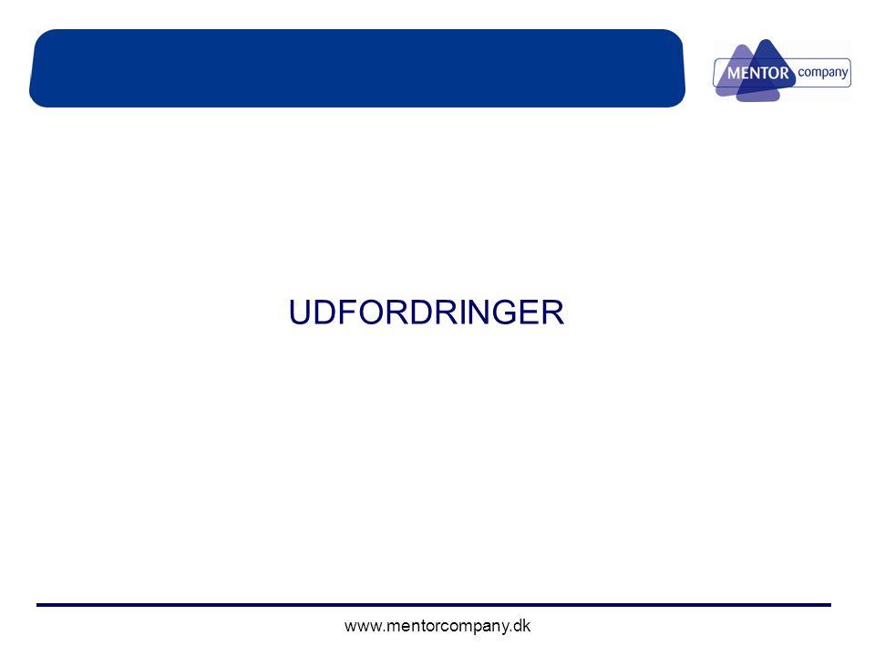 UDFORDRINGER www.mentorcompany.dk