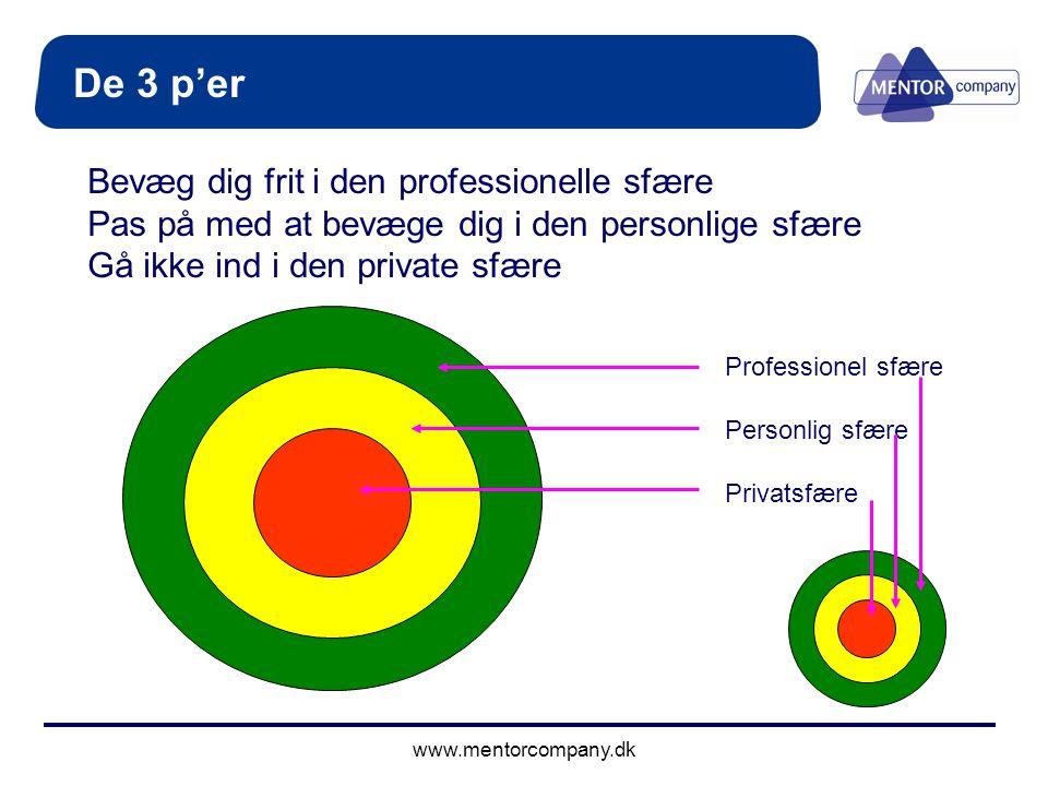De 3 p'er Bevæg dig frit i den professionelle sfære