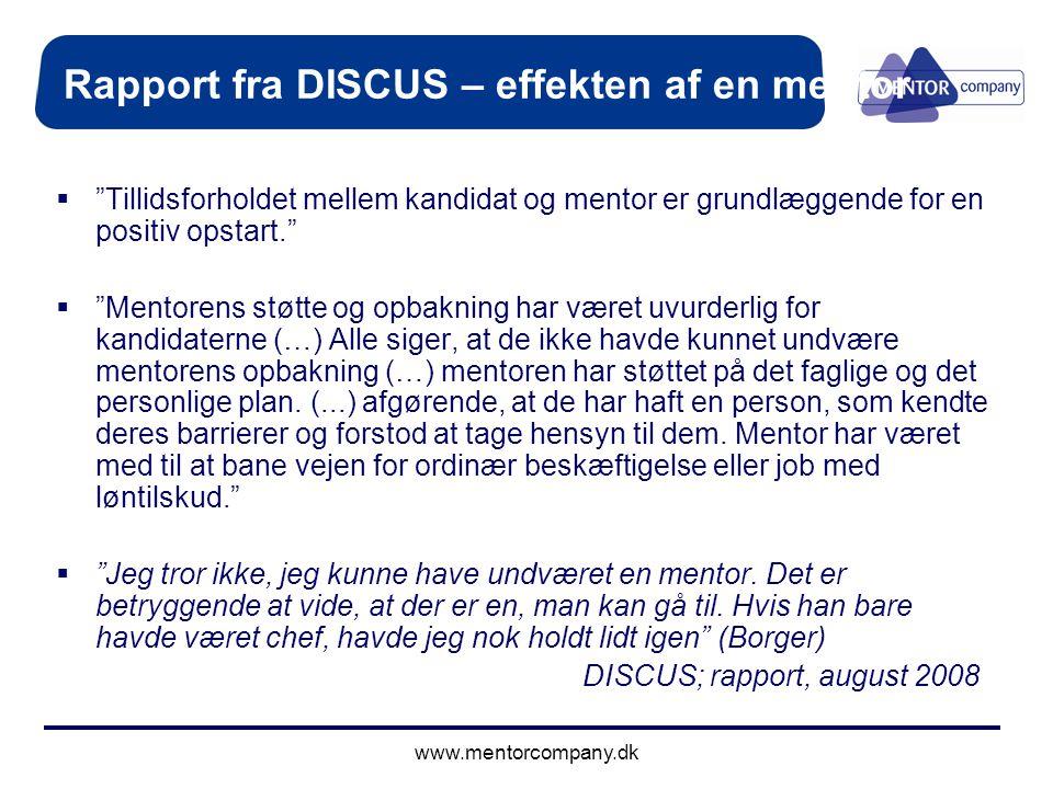 Rapport fra DISCUS – effekten af en mentor