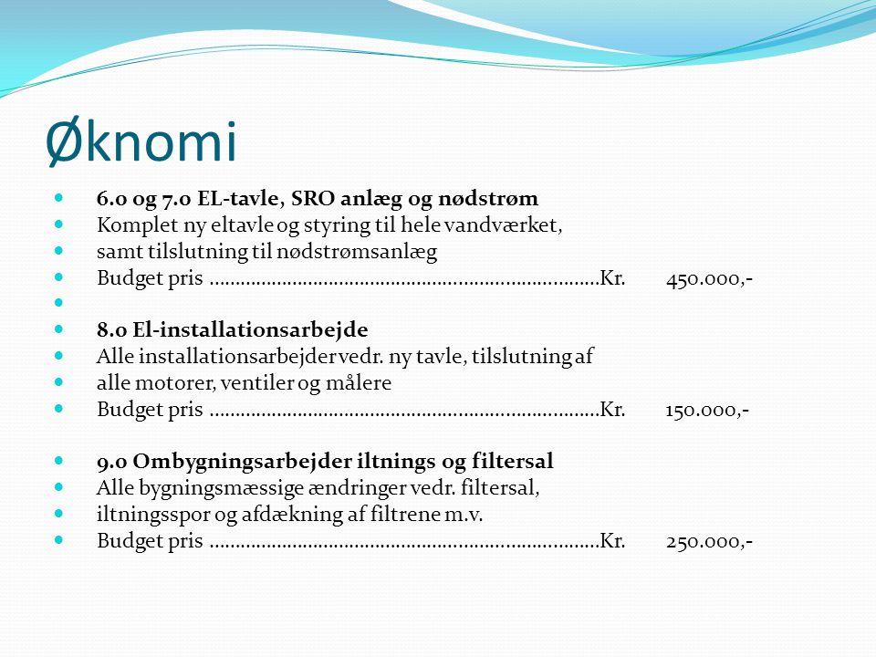Øknomi 6.0 og 7.0 EL-tavle, SRO anlæg og nødstrøm
