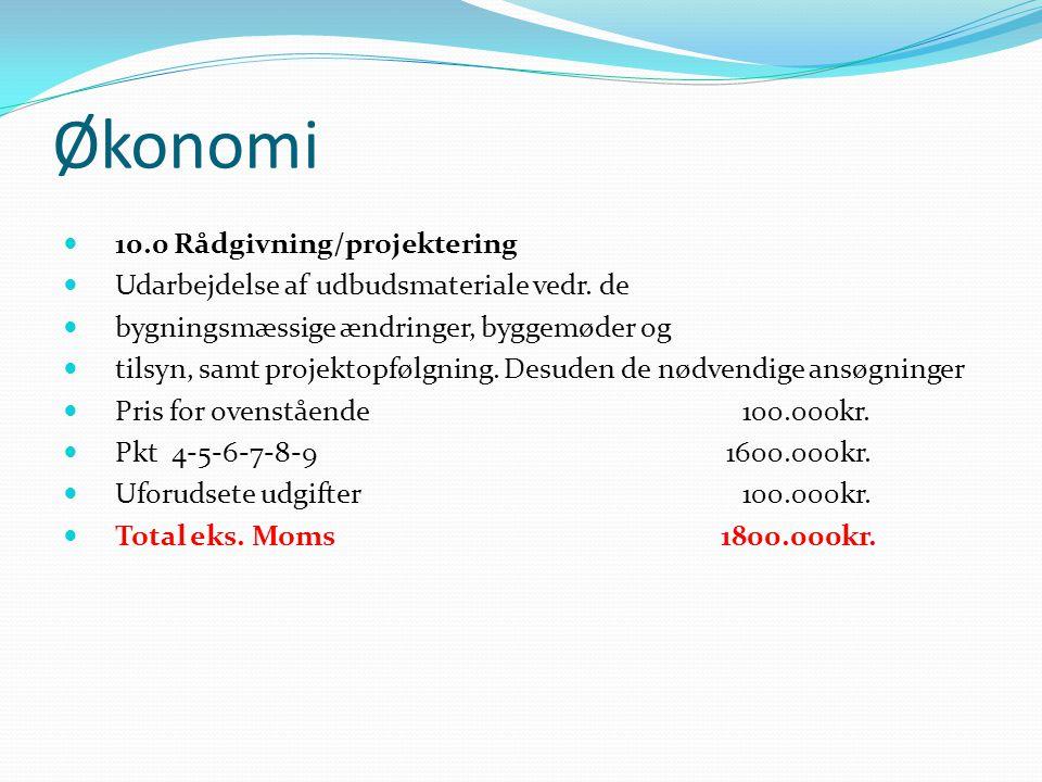 Økonomi 10.0 Rådgivning/projektering