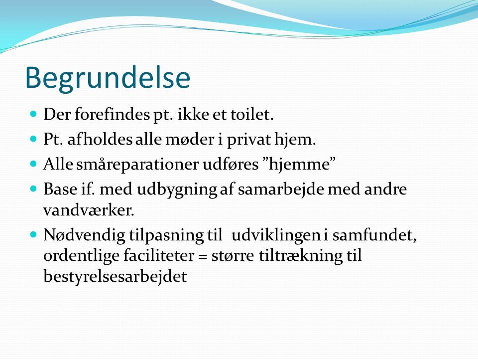 Begrundelse Der forefindes pt. ikke et toilet.