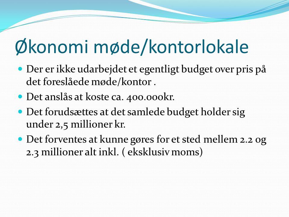 Økonomi møde/kontorlokale