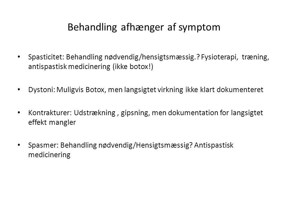 Behandling afhænger af symptom