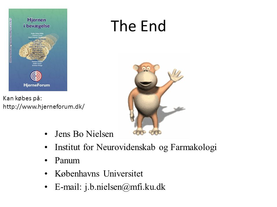 The End Jens Bo Nielsen Institut for Neurovidenskab og Farmakologi