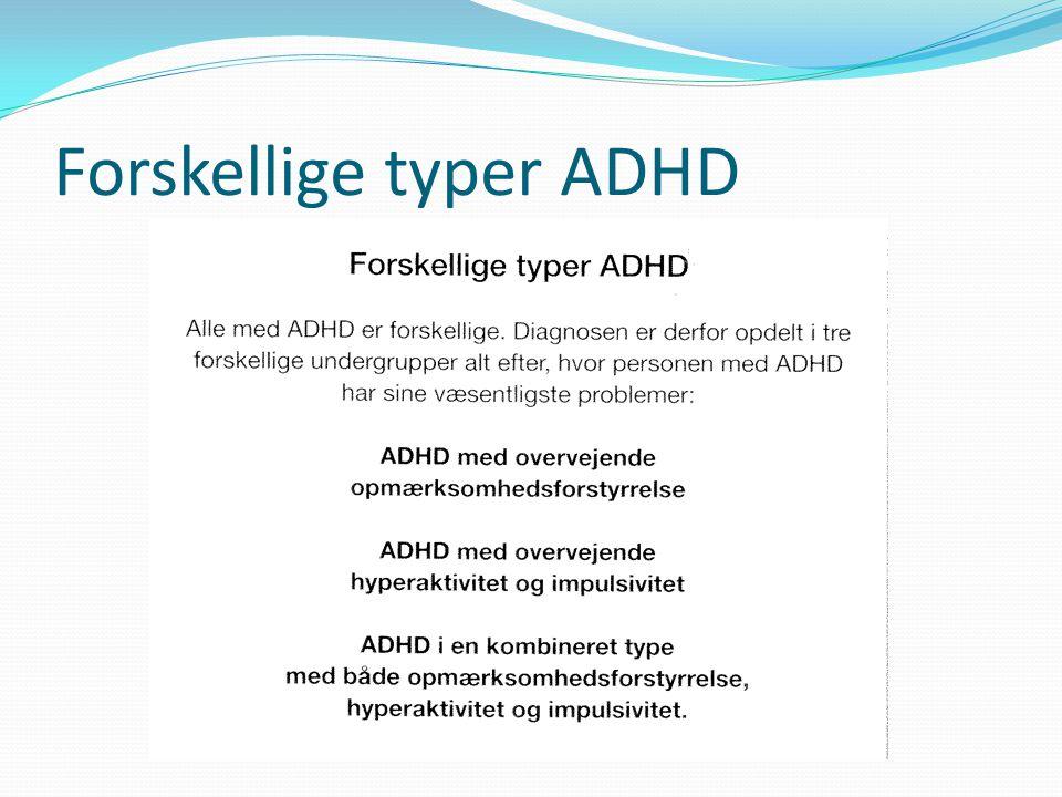 Forskellige typer ADHD