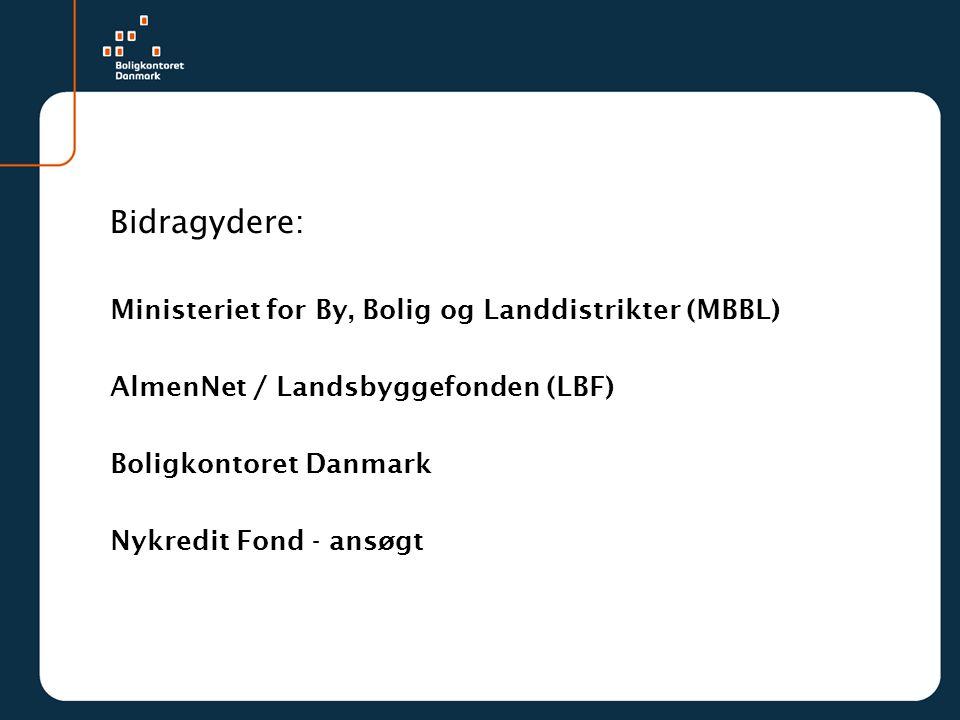 Bidragydere: Ministeriet for By, Bolig og Landdistrikter (MBBL)