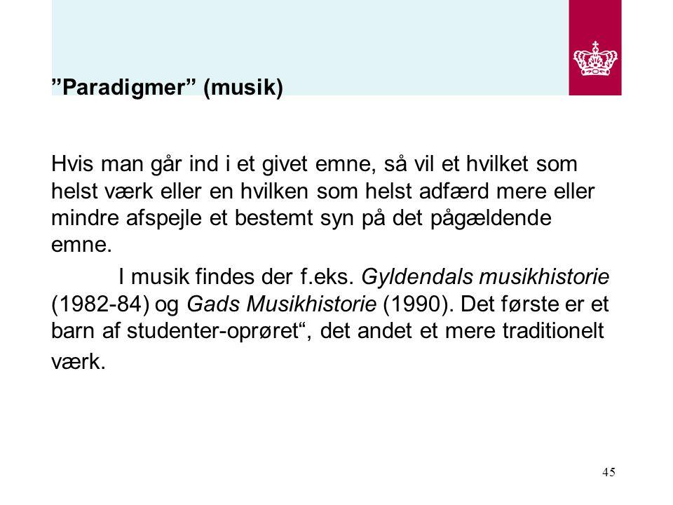 Paradigmer (musik)