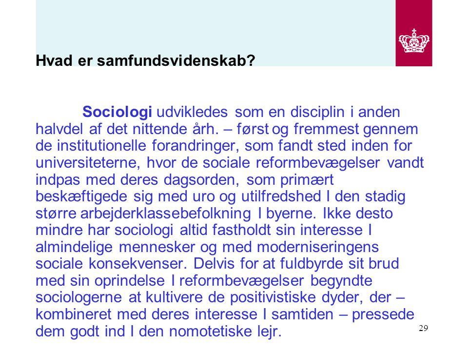 Hvad er samfundsvidenskab