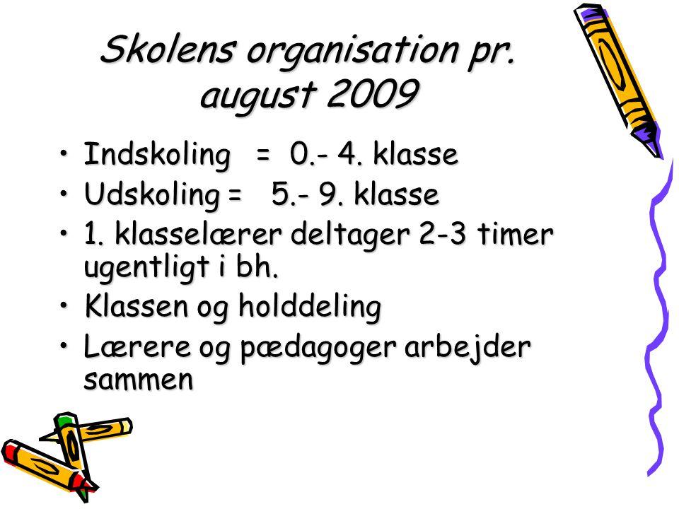 Skolens organisation pr. august 2009