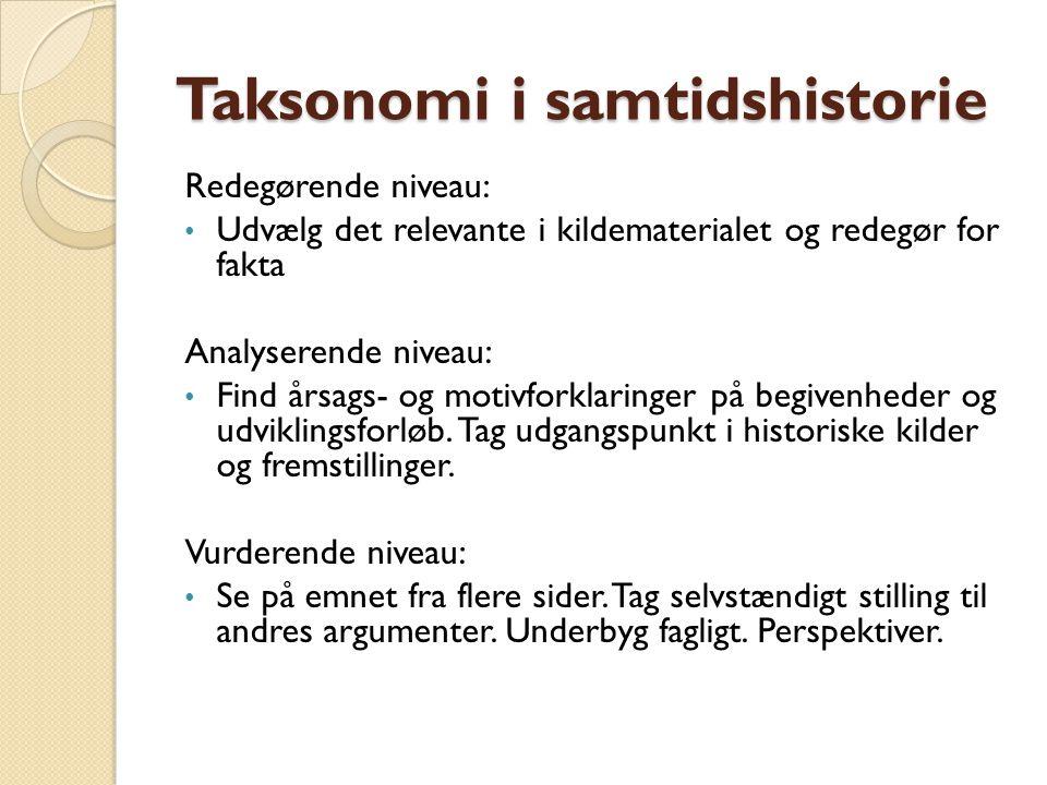 Taksonomi i samtidshistorie