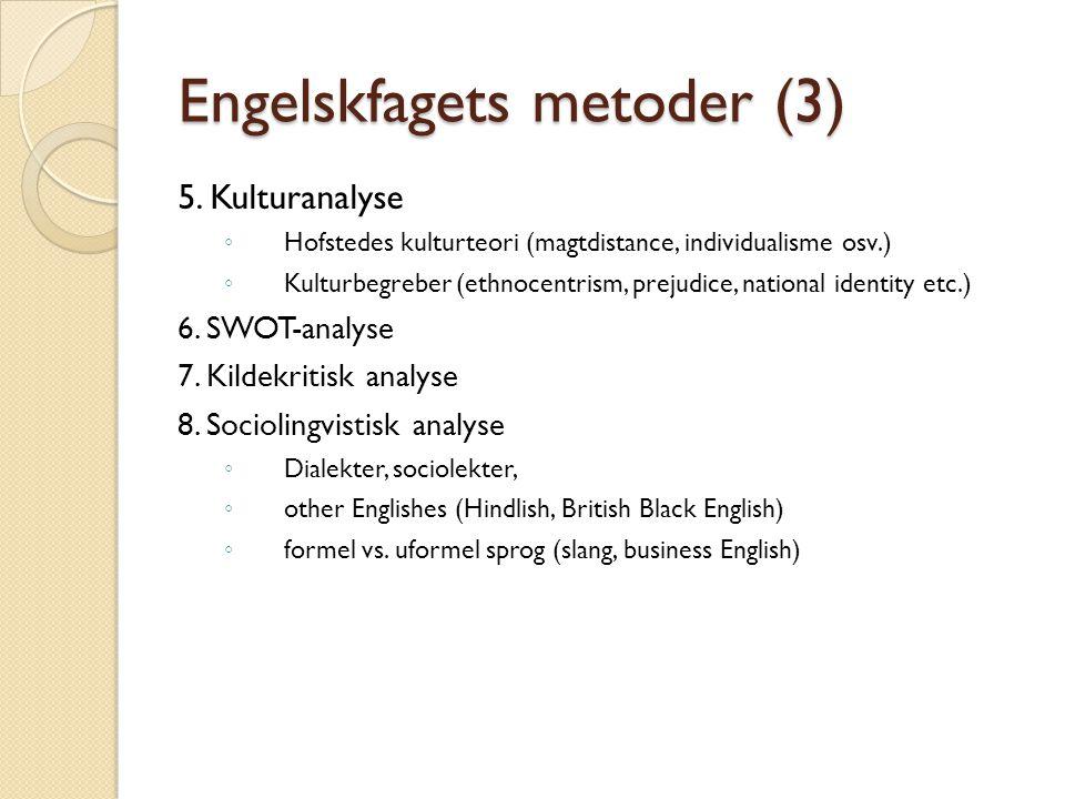 Engelskfagets metoder (3)