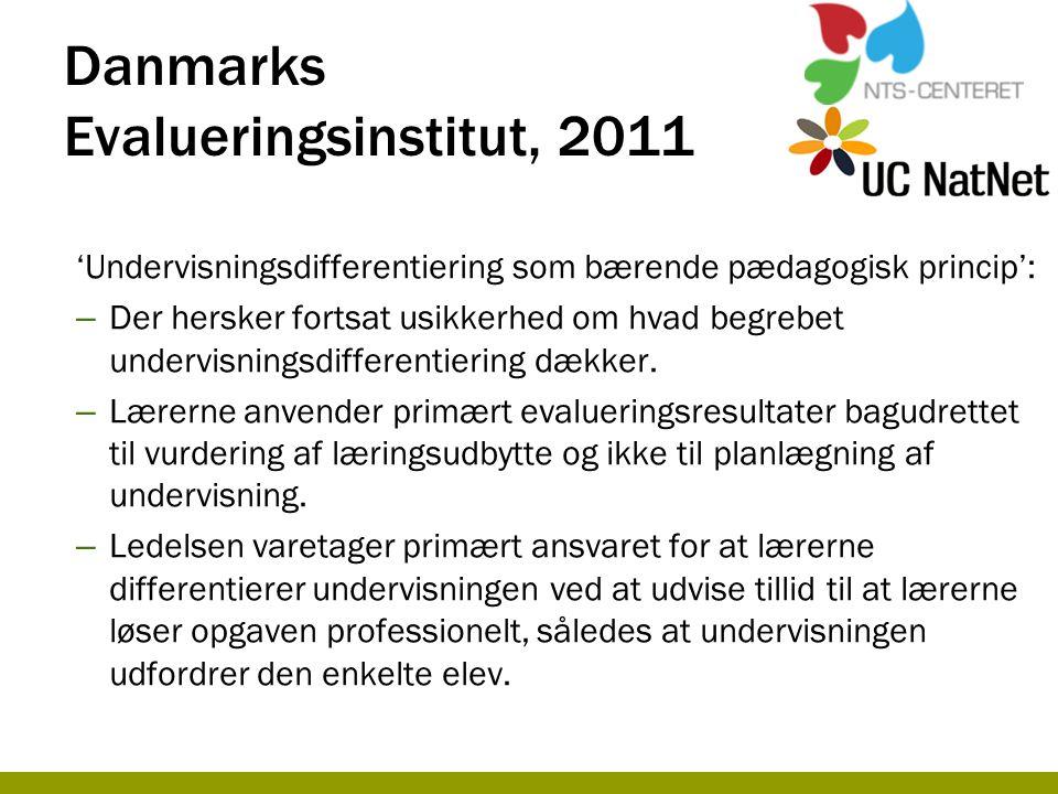 Danmarks Evalueringsinstitut, 2011