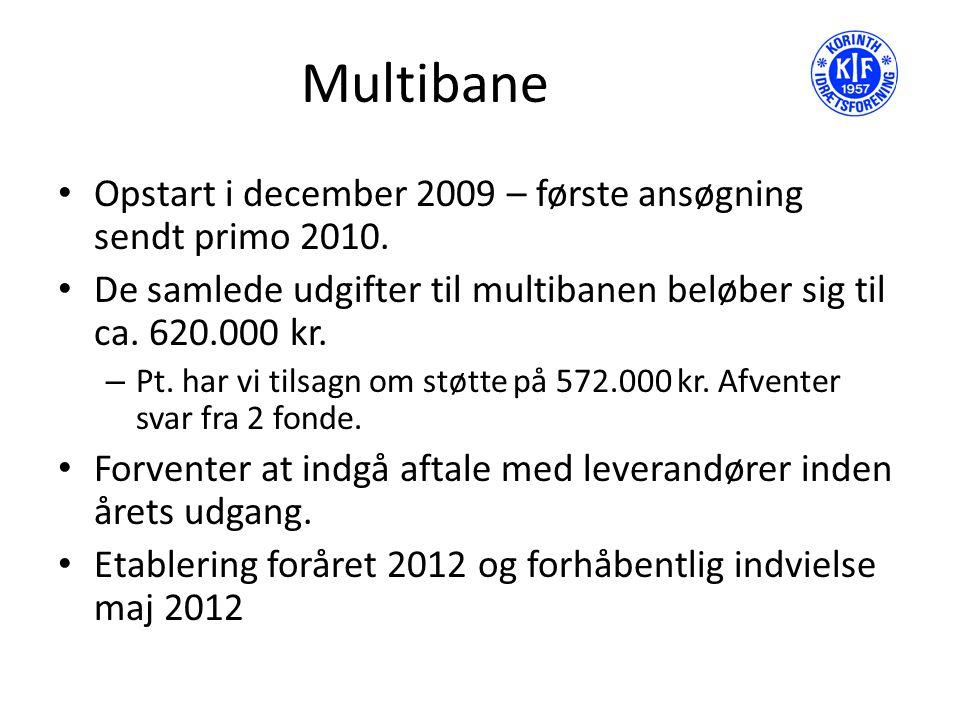 Multibane Opstart i december 2009 – første ansøgning sendt primo 2010.