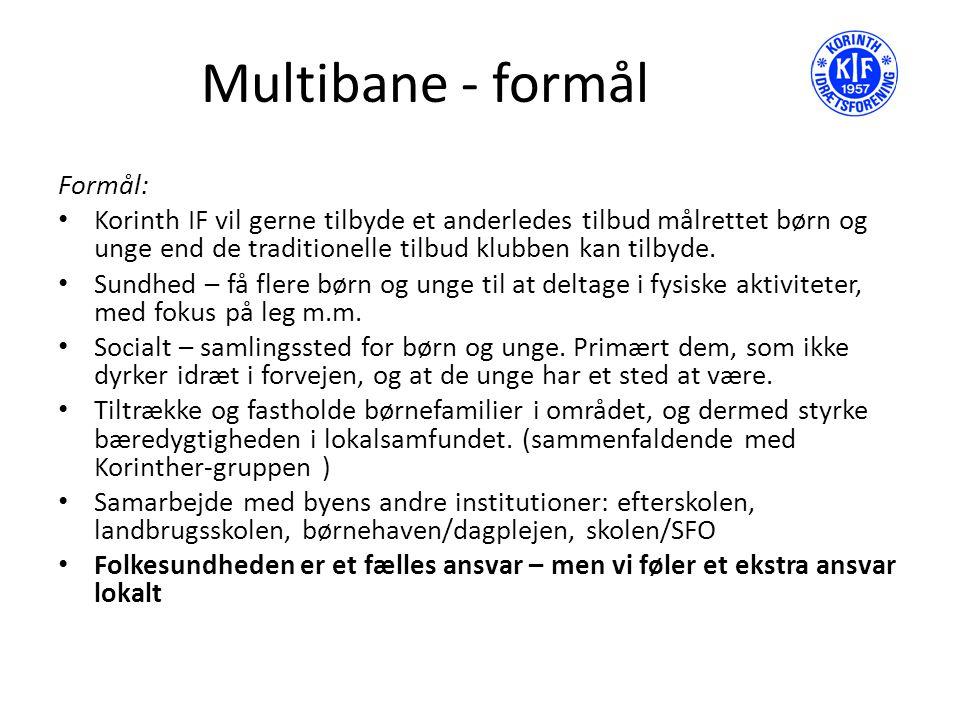 Multibane - formål Formål: