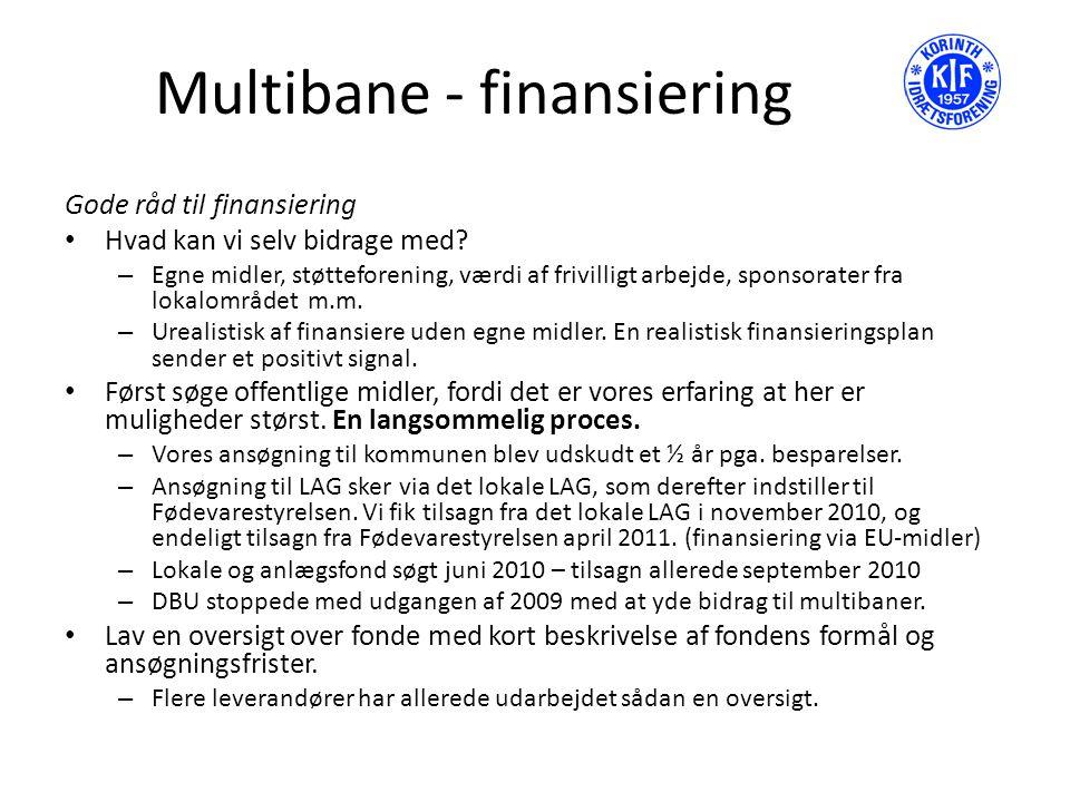 Multibane - finansiering