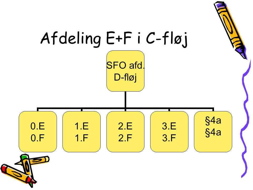 Afdeling E+F i C-fløj