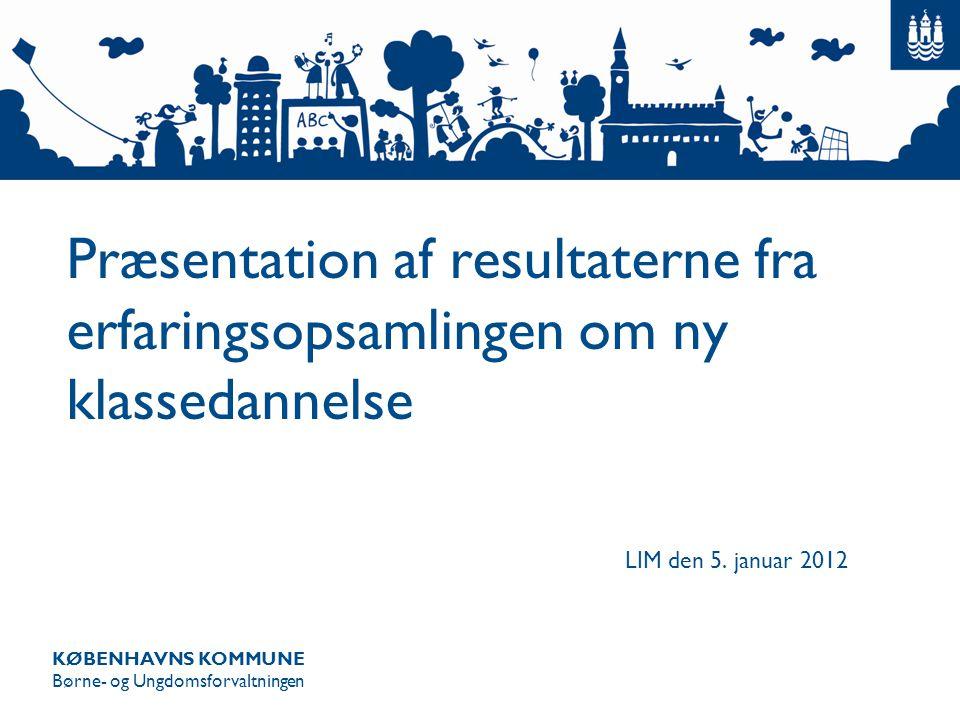 Præsentation af resultaterne fra erfaringsopsamlingen om ny klassedannelse
