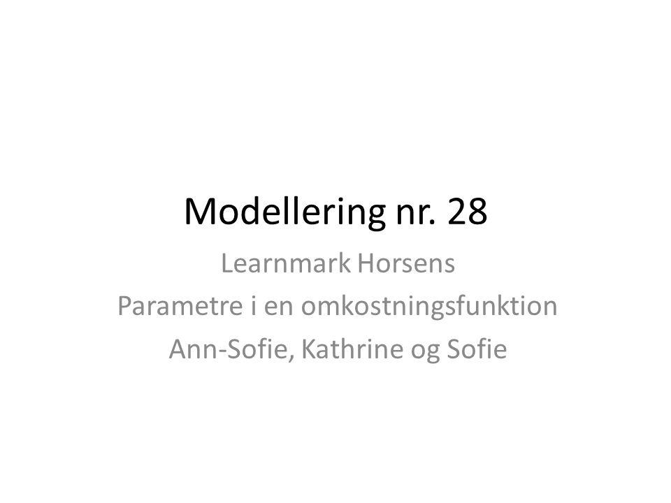 Modellering nr. 28 Learnmark Horsens