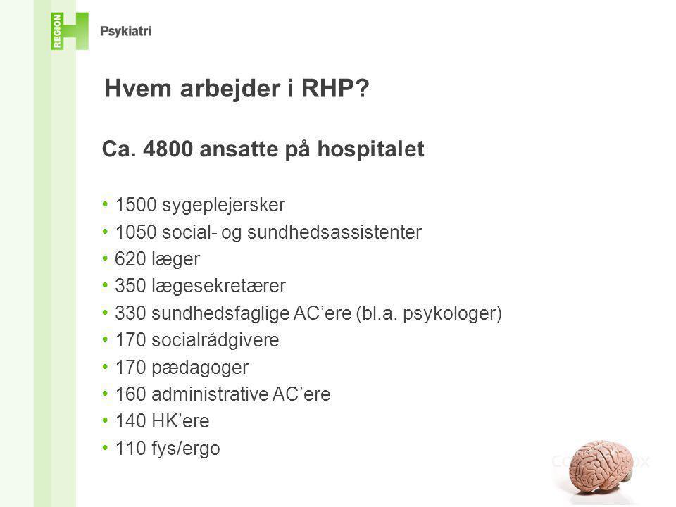 Hvem arbejder i RHP Ca. 4800 ansatte på hospitalet