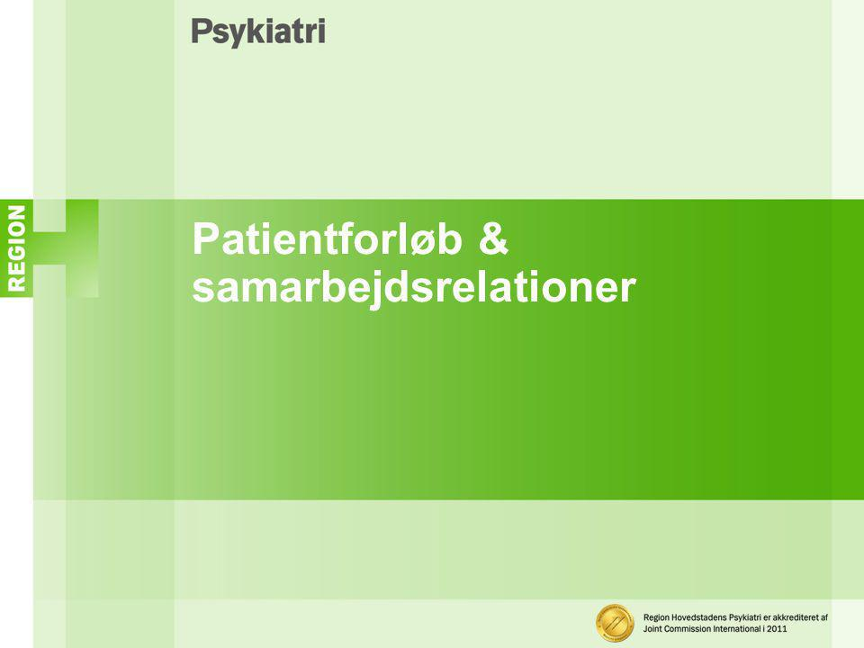 Patientforløb & samarbejdsrelationer