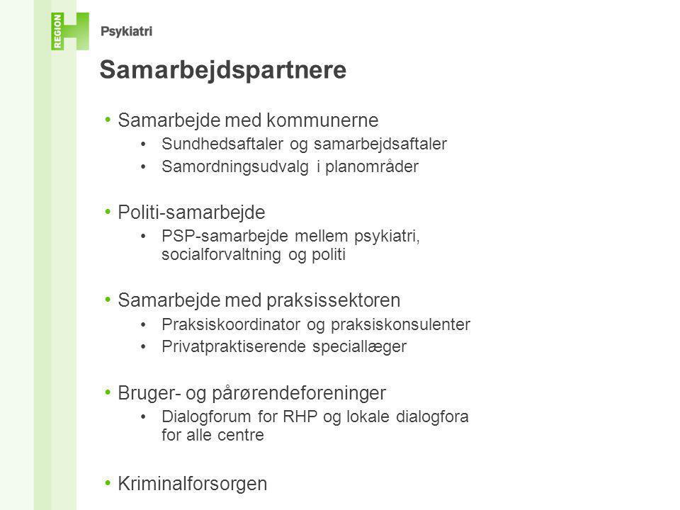 Samarbejdspartnere Samarbejde med kommunerne Politi-samarbejde