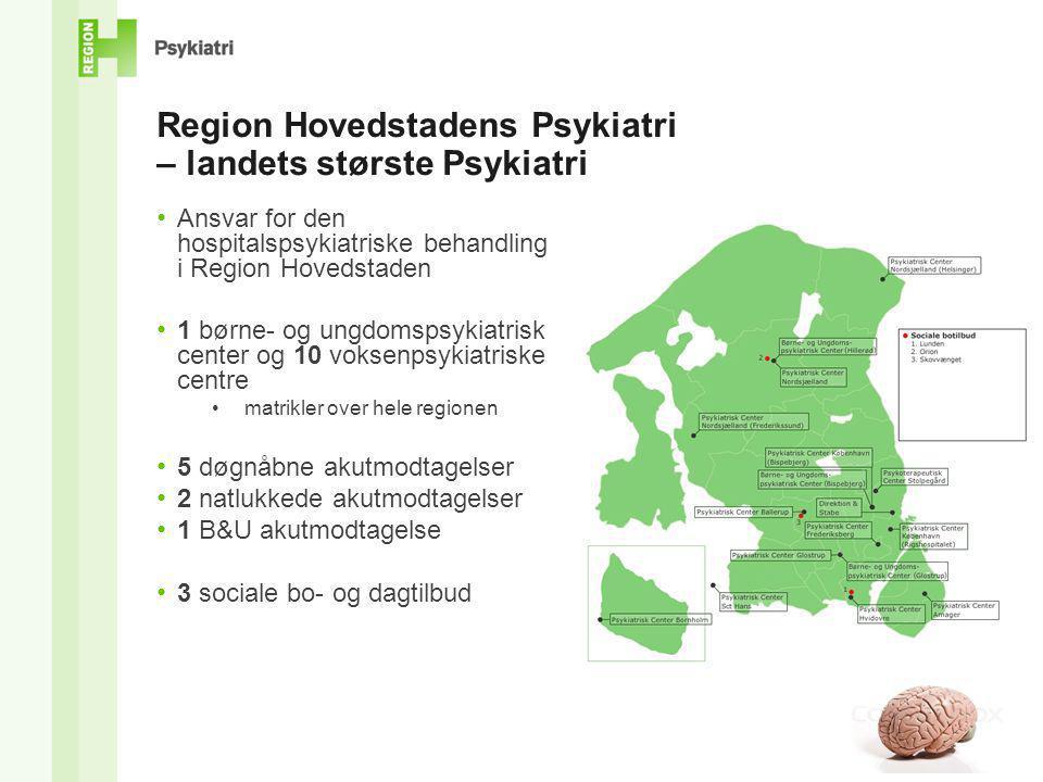 Region Hovedstadens Psykiatri – landets største Psykiatri