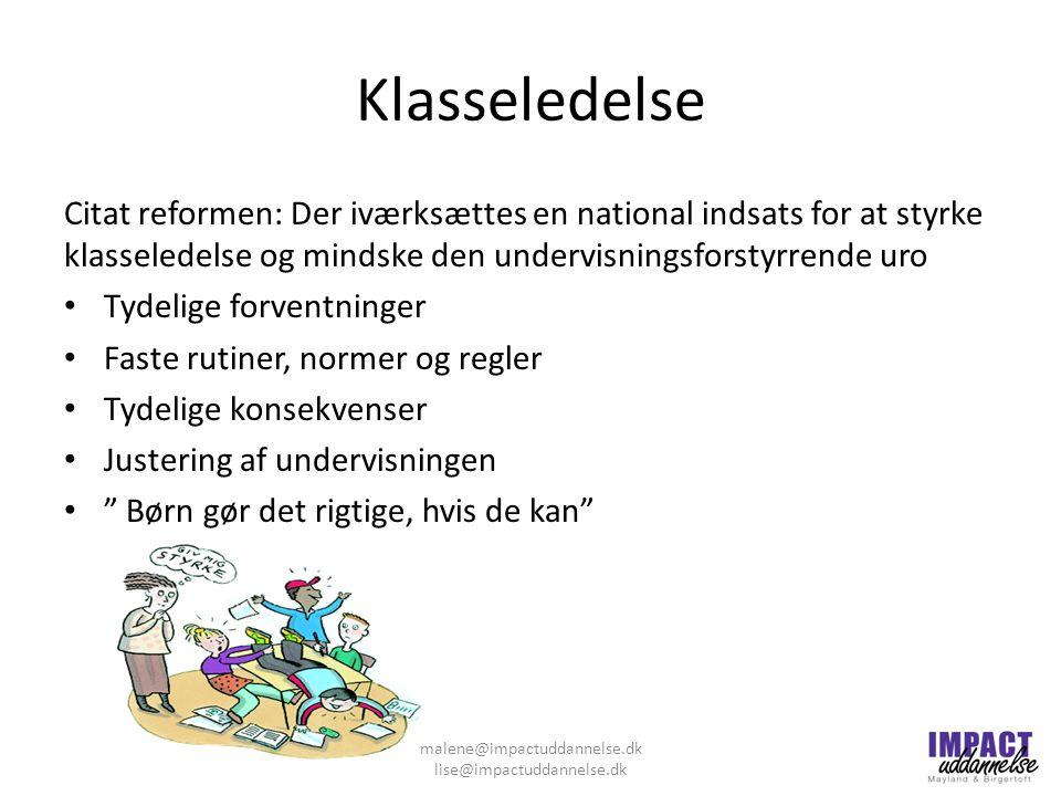 malene@impactuddannelse.dk lise@impactuddannelse.dk