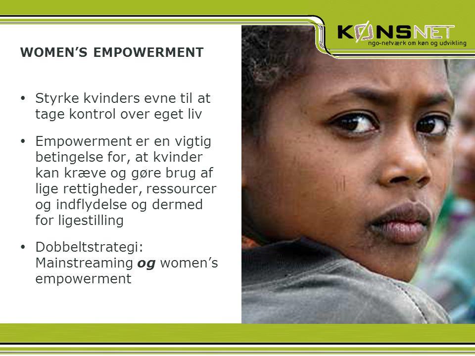 Styrke kvinders evne til at tage kontrol over eget liv