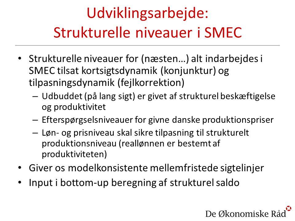 Udviklingsarbejde: Strukturelle niveauer i SMEC
