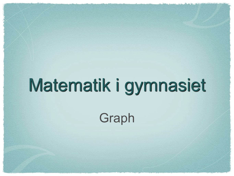 Matematik i gymnasiet Graph