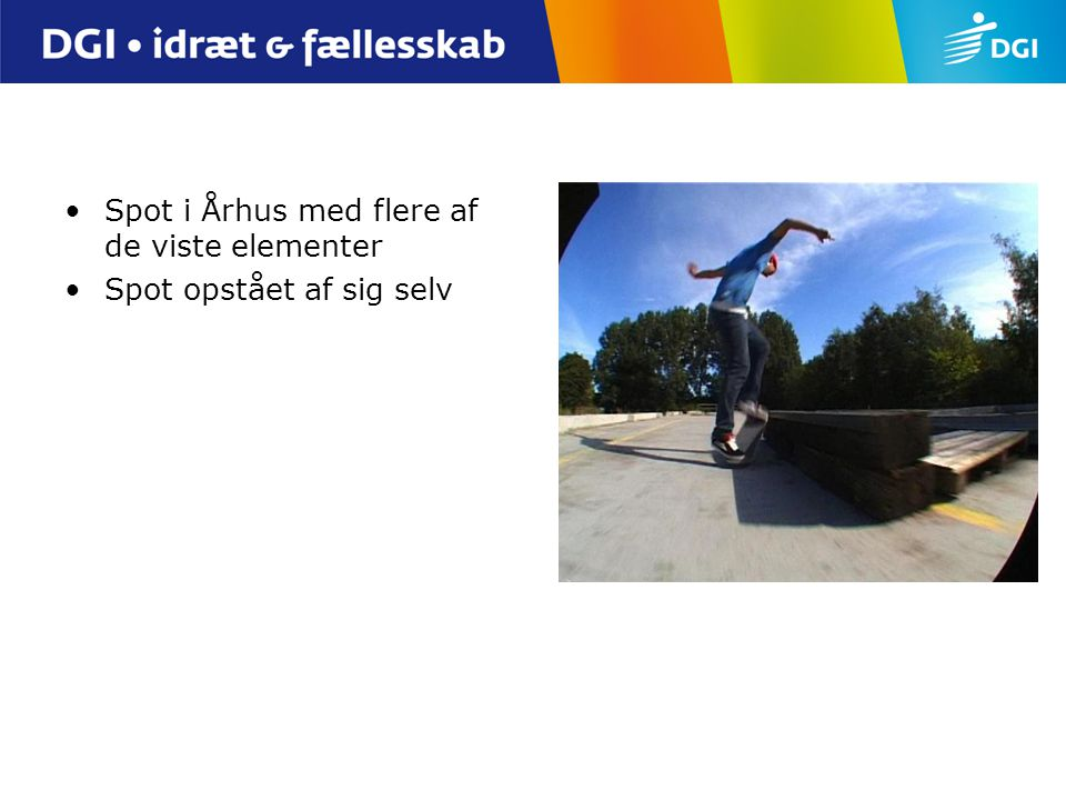Spot i Århus med flere af de viste elementer