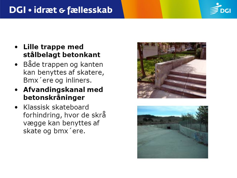 Lille trappe med stålbelagt betonkant