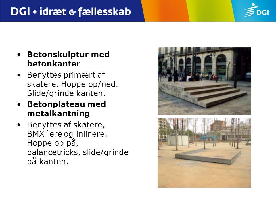 Betonskulptur med betonkanter