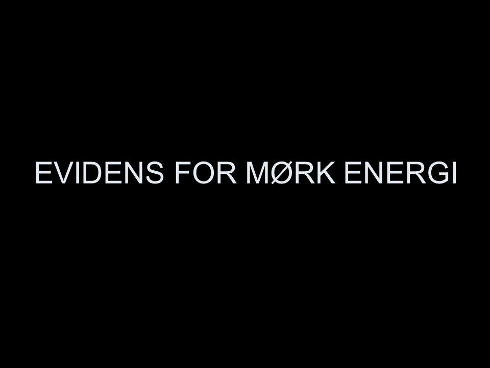 EVIDENS FOR MØRK ENERGI