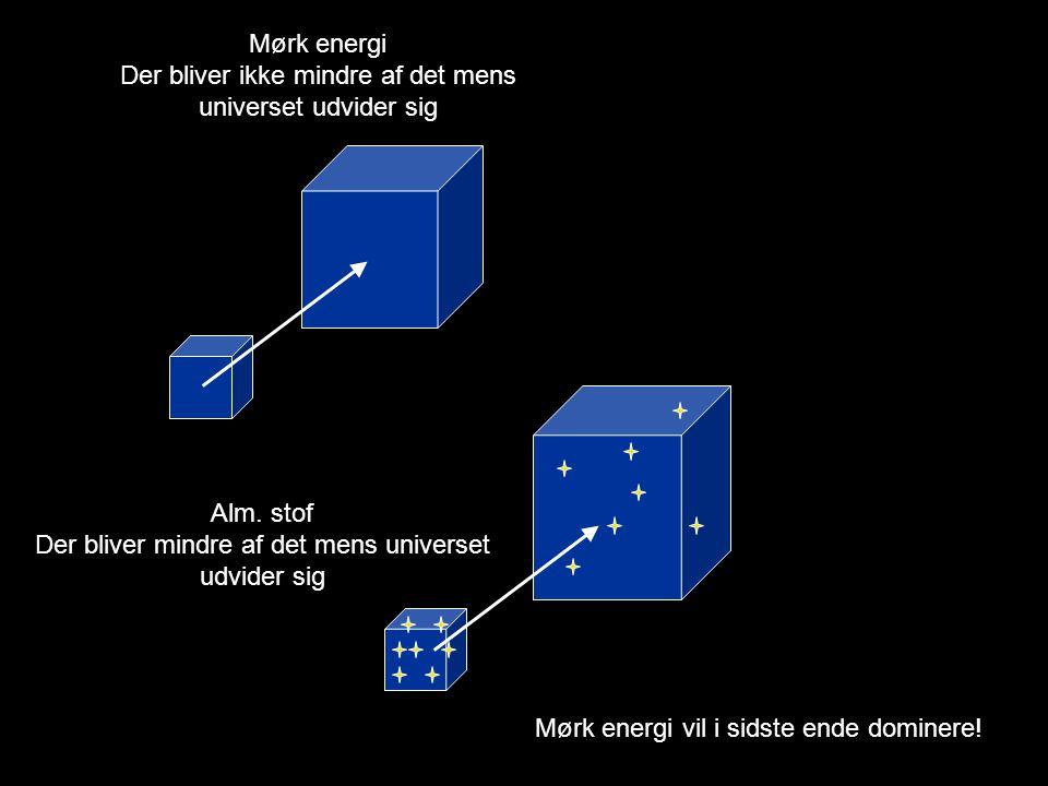 Der bliver ikke mindre af det mens universet udvider sig
