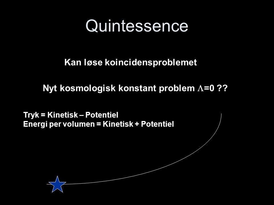 Quintessence Kan løse koincidensproblemet