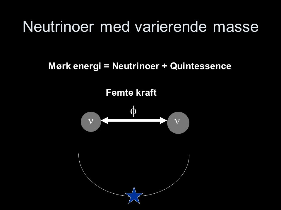 Neutrinoer med varierende masse