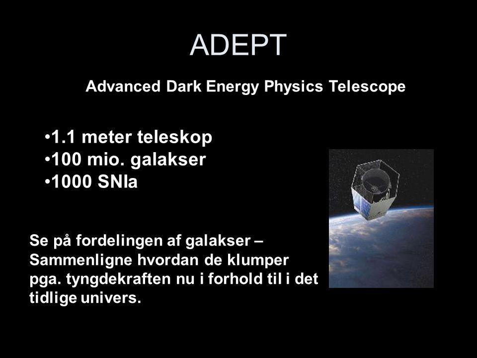 ADEPT 1.1 meter teleskop 100 mio. galakser 1000 SNIa