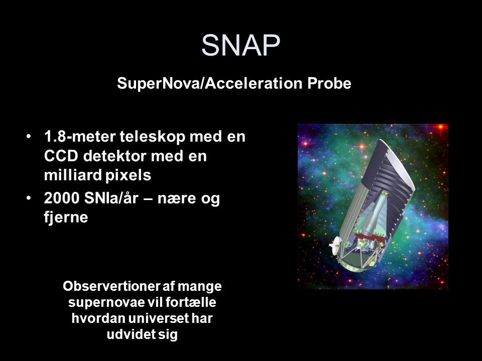 SNAP SuperNova/Acceleration Probe