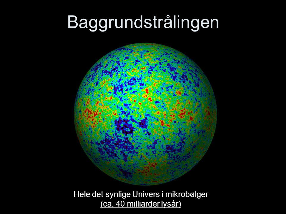 Hele det synlige Univers i mikrobølger