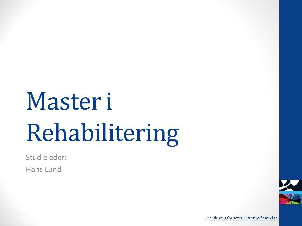 Master i Rehabilitering