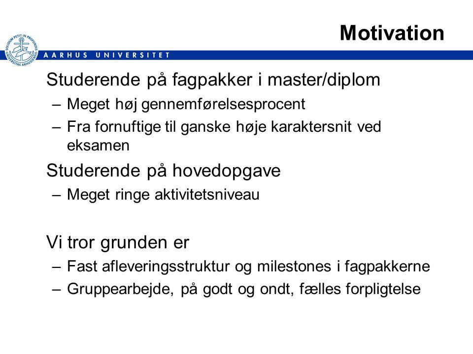 Motivation Studerende på fagpakker i master/diplom