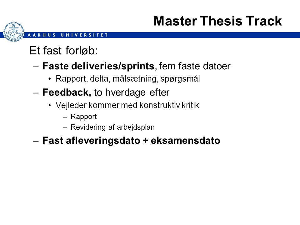 thesis track and non thesis track Our non-thesis option is designed to be more flexible and is tailored for students who don't necessarily need a great deal of research training non-thesis students will take 6 more hours of electives than thesis students, but they take 6 fewer hours of research credit non-thesis students still must do an.
